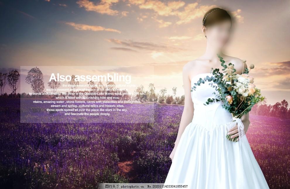 婚紗背景圖片,畫布,風景,景色,鮮花,美女,婚紗攝影
